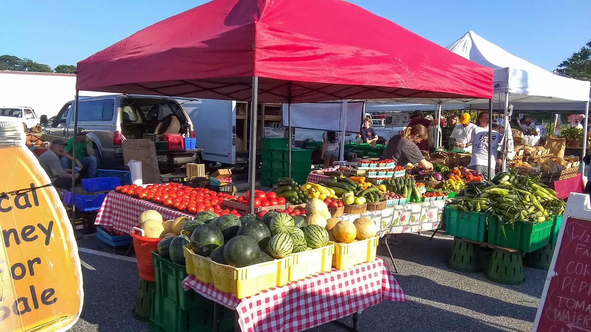 Bethany Beach Farmers Market Stall