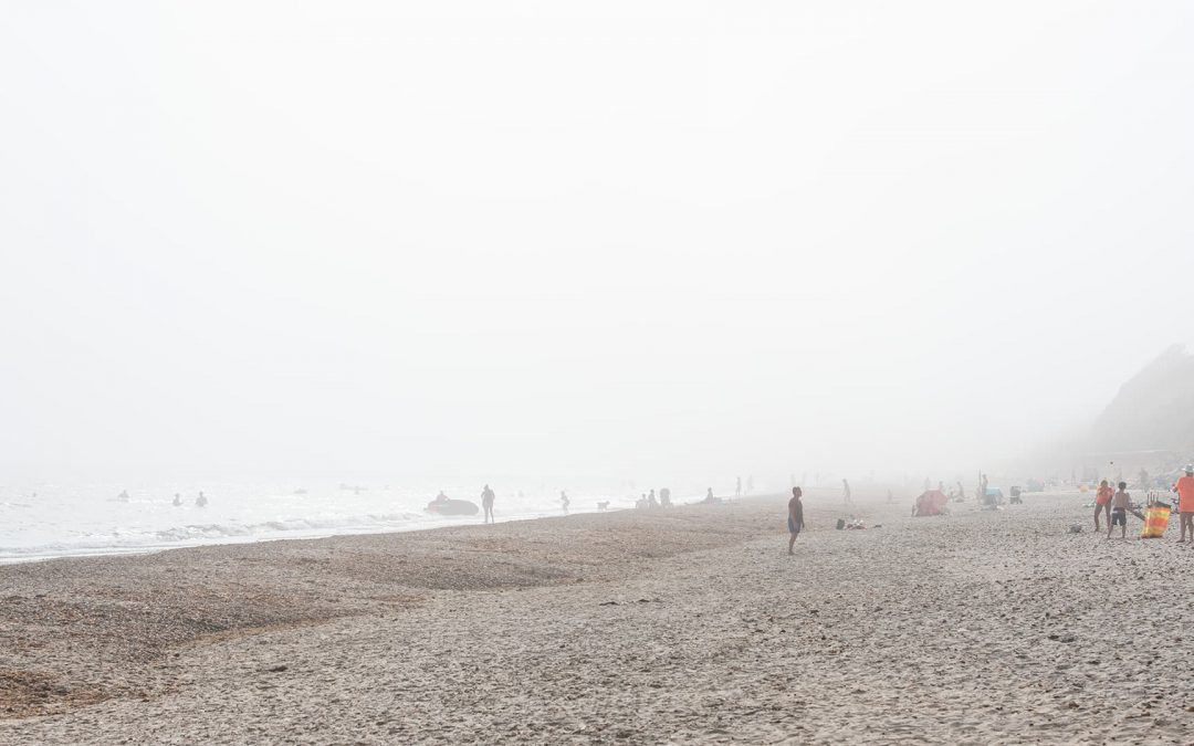 fog on the beach at bethany beach